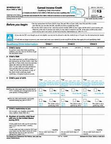 2013 form irs 1040 schedule eic fill online printable