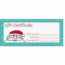 Gift Certificate Paper Kris Kringle Fill In The Blank Gift Certificates