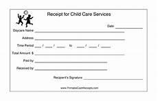 babysitting receipt template daycare reciept studio design gallery best design