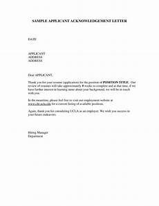 Acknowledgement Letter Example 28 Acknowledgement Letters Free Samples Examples Formats