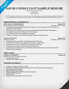 Sap Consultant Resume Sap B1 Consultant Resume Sample Resumecompanion Com