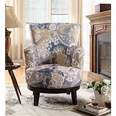 pattern accent chair unbranded zoey swivel flower pattern accent chair 90011 27