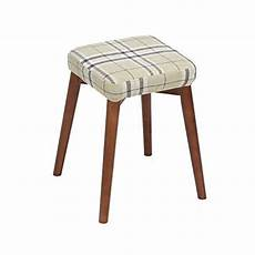 wenjun square wooden wood support upholstered footstool