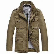 mens outdoor jackets coats afs jeep mens outdoor cotton stand collar jacket big size