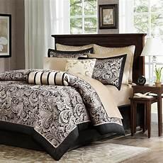 black gold bed bag luxury 12pc comforter set call king