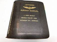 1 Vintage Jeppesen Leather Airway Manual Binder Charts