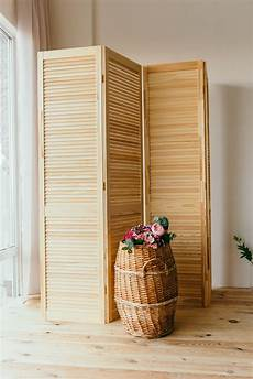 brown wooden 3 panel room divider 183 free stock photo