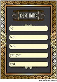 1920s Invitation Template Free 1920s Great Gatsby Party Invitation Get The Free