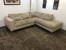 plush corduroy microfiber leather sectional sofa w
