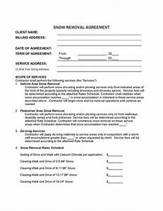 Commercial Snow Removal Contract Free Snow Removal Contract Template Samples Word Pdf