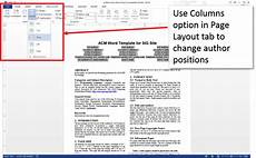 Two Column Template Word Create An Accessible Acm Using Microsoft Word