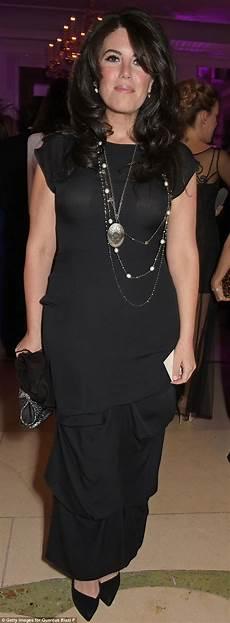 monica lewinsky dons black dress for red cross charity