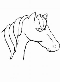 coloring pages horses heads ribbon print coloring home