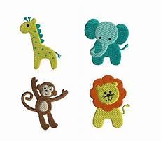 embroidery animals mini jungle animals machine embroidery instant