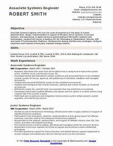 Systems Engineer Resume Systems Engineer Resume Samples Qwikresume