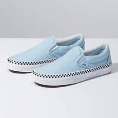 Light Blue And Checkered Vans Check Foxing Slip On Vans Ca Store