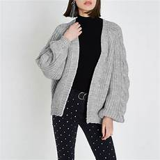 grey chunky cable knit cardigan knitwear sale