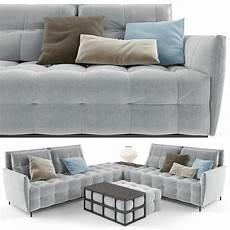 Small Grey Sofa 3d Image by Poliform Sofa Set Grey 3d Model Max Obj Mtl