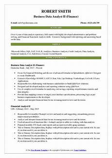 Resume Data Analysis Business Data Analyst Resume Samples Qwikresume