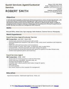 Guest Service Agent Resume Guest Services Agent Resume Samples Qwikresume