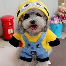 puppy coats minions costume minions top pet gifts