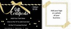 Make Gift Certificates Online Free Make Your Own Gift Certificate Free