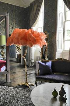 Feather Light Furniture The Ostrich Feather Lamp Coral A Modern Grand Tour