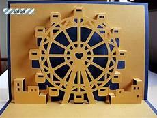 pop up card ferris wheel template ferris wheel kirigami pop up card https www