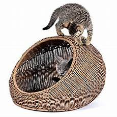 d garden wicker cat bed dome for medium
