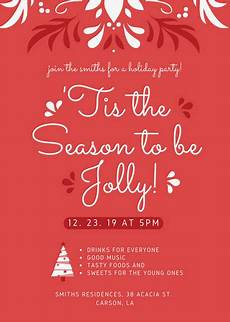 Work Christmas Party Flyer Customize 72 Christmas Flyer Templates Online Canva