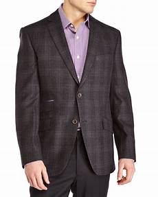 sports coats for big and baker ted baker charcoal plaid two button wool sport coat in
