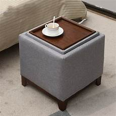coffee table solid wood footstool home living room storage