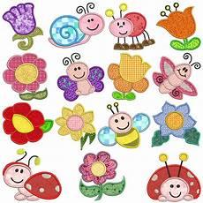 Applique Designer Garden Machine Applique Embroidery Patterns 15
