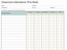 Blank Attendance Sheet For Teachers Class Attendance Template Class Attendance Sheet Template