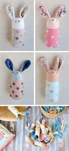 diy handmade bunnies softies rabbits rattles toys