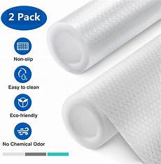 2 pack non adhesive shelf liners for kitchen cabinets and