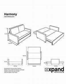 Size Sofa Bed Mattress 3d Image by Harmony Size Memory Foam Sofa Bed Expand