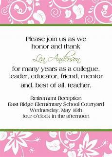 Retirement Invitation Examples Love The Wording Retirement Reception Invitation 10