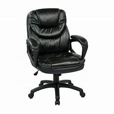 Warmiehomy Office Chair Swivel Faux Leather Armchair Height Adjustable by Black Faux Leather Office Chair Adjustable Height
