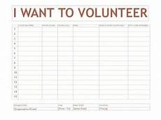 Volunteer Sign Up Sheet Volunteer Sign Up Sheet Template Word Templates