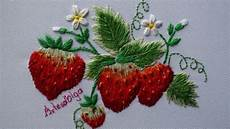 embroidery strawberry design fresas bordadas a