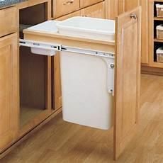 rev a shelf single trash pullout 50 quart wood 4wctm