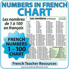 French Number Chart 1 1000 French Numbers 1 100 Chart By Woodward Education Tpt