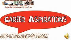 What Is Career Aspiration 5 Key Career Aspirations Examples Youtube