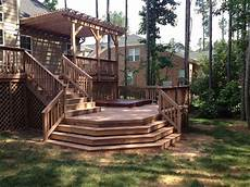 Two Level Deck Designs Raleigh Multi Level Decking More Than Just A Beautiful