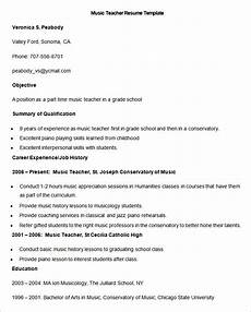 Music Teacher Resume Sample Resume Templates 127 Free Samples Examples Amp Format