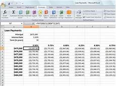 Calculate Loan Payments Excel Calculating Loan Payments With Excel 2007 S Pmt Function