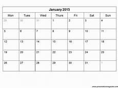 Planning Calendar Template 2015 Free 2015 Monthly Calendar Template