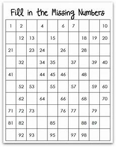 Fill In 100 Chart Learning To Count To 100 Chart Number And Learning