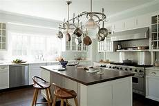 kitchen island with pot rack pot rack island cottage kitchen tim barber
